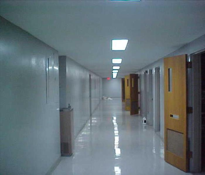 Commercial Hallway Damage Restoration After