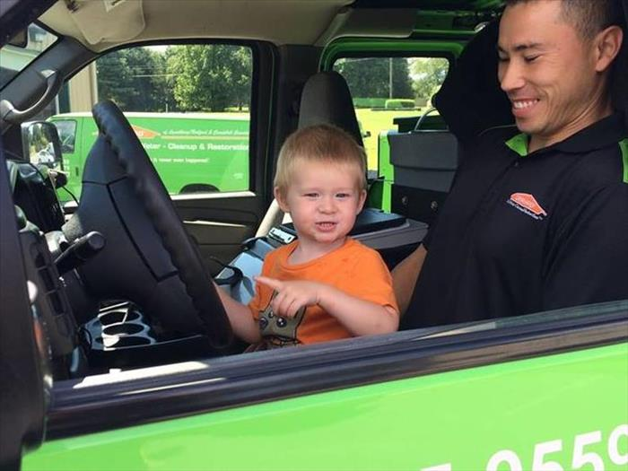 Young SERVPRO Employee in the making!