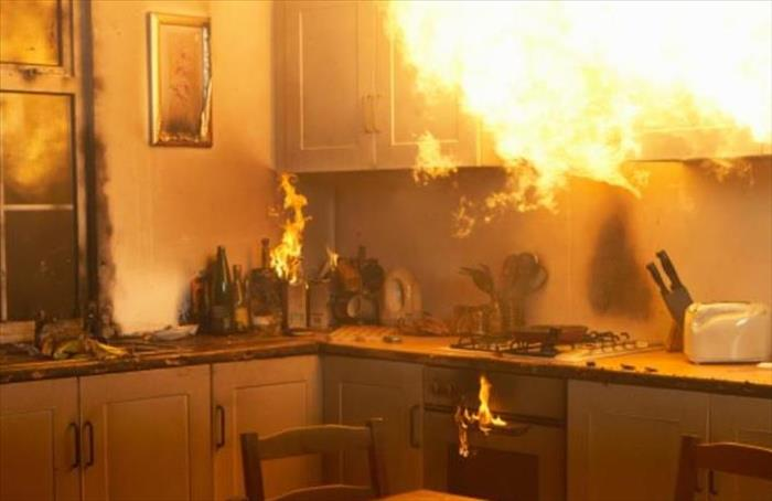 Fire Damage The American Red Cross Has This to Say About Kitchen Fires: